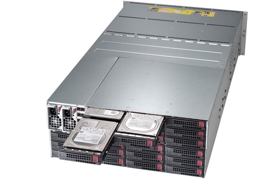 Supermicro 4U 90 HDD High Volume Single SAS2 Expander JBOD | 847DE16